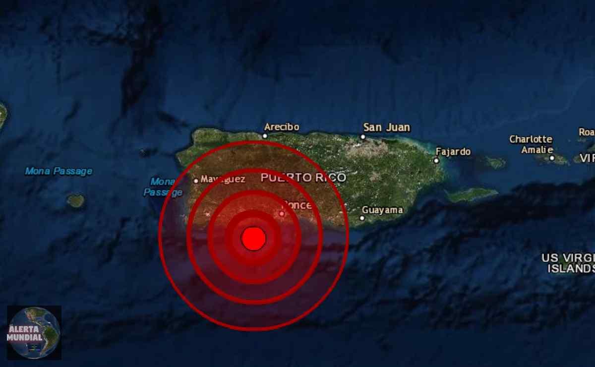 Sismo de magnitud en Sur de Puerto Rico