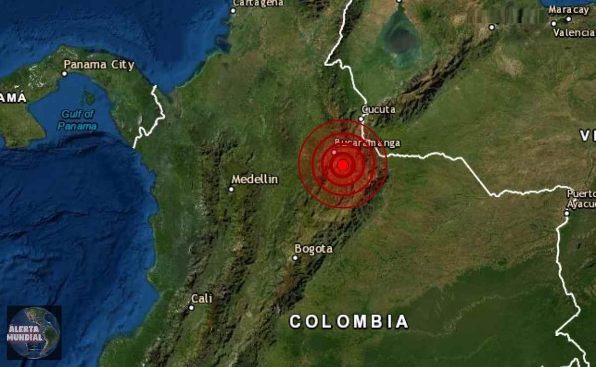 Sismo en Bucaramanga de Colombia
