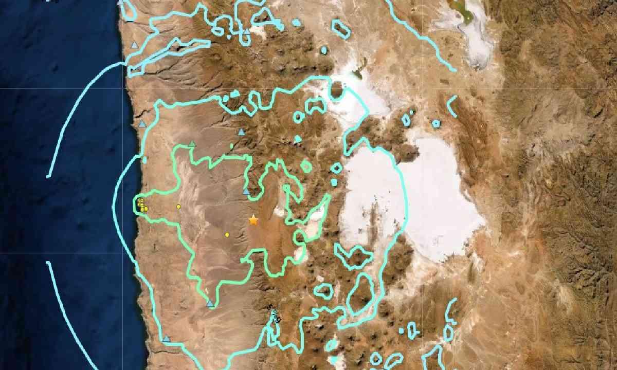 Sismo en Tarapacá de magnitud 6.1