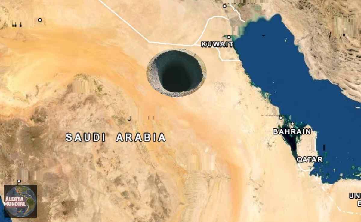 Sumidero en Arabia Saudita producto de las fuertes lluvias
