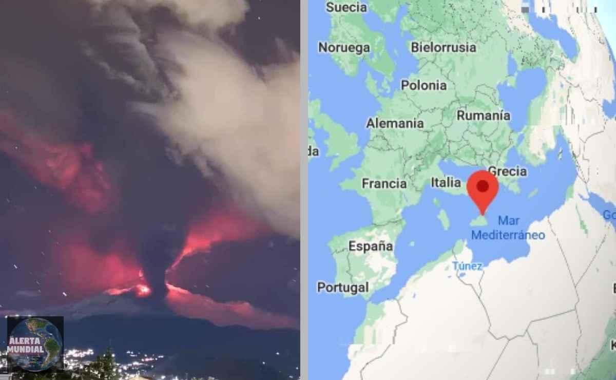 Volcán etna entra en erupción