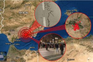 3 fuertes sismos seguido de 17 replicas estremece Granada en una hora..