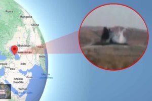 En Azerbaiyán entra en erupción un volcán de lodo
