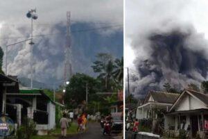 Entra en erupción el volcán Semeru en Indonesia