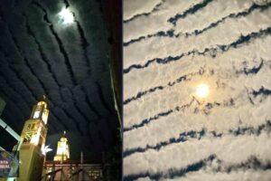 Extrañas nubes aparecen en los cielos de México y temen un fuerte sismo por venir..