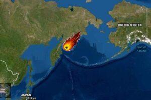 Meteorito en Kamchatka al este de Rusia