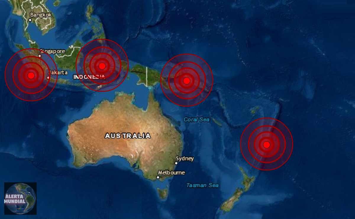 Potentes sismos golpean el Pacífico occidental este miércoles..