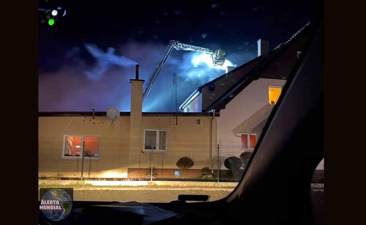 Raro fenómeno en forma de Ángel en un incendio en Polonia