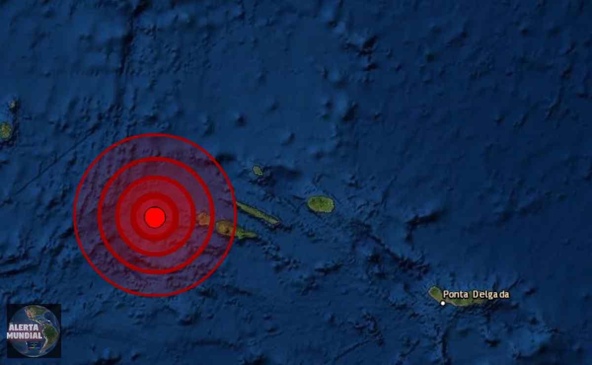 Sismo magnitud 5.4 Islas Azores de Portugal