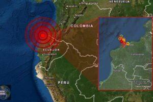 Un 'enjambre de sismos en curso' esta golpeando la provincia de Esmeraldas en Ecuador