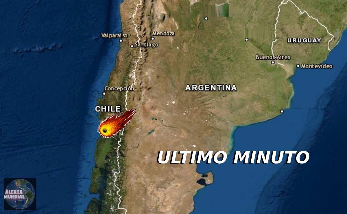 Un impresionante meteorito raspa los cielos del sur de Chile
