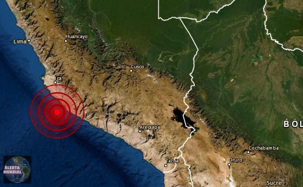 Un sismo de magnitud 5.6 sacude Ica del Perú