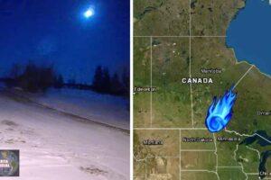 bola de fuego ardiente explota en Canadá tan lejos como en EEUU