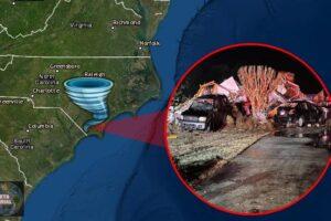 El tornado de Carolina del Norte destruye varias casas; mata a 3, hiere al menos a 10
