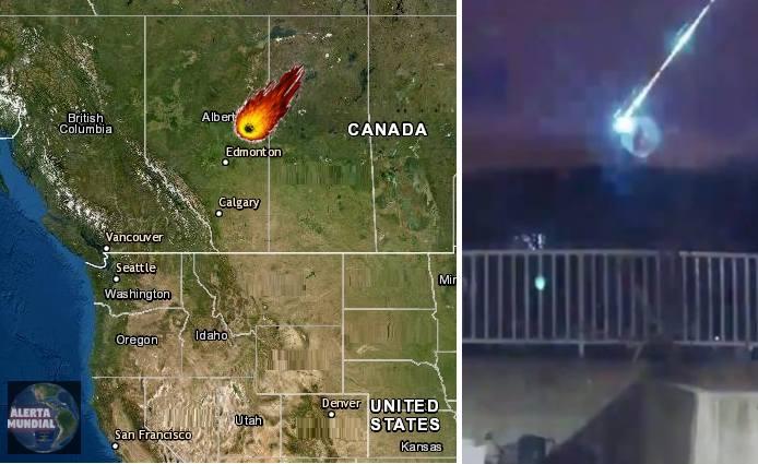 Enorme bola de fuego perfora temporalmente la oscuridad del cielo en Canadá