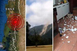 Fuerte sismo en Valdivia reportan deslizamientos y caída de objetos (VIDEOS)
