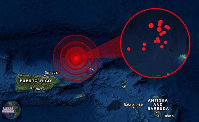 Seguidillas de sismos golpea el noreste de Puerto Rico