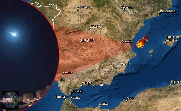 Siguen cayendo meteoritos enormes esta vez en España