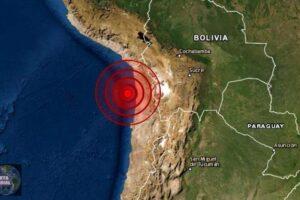 Sismo de magnitud 5.4 en Tarapaca, Chile