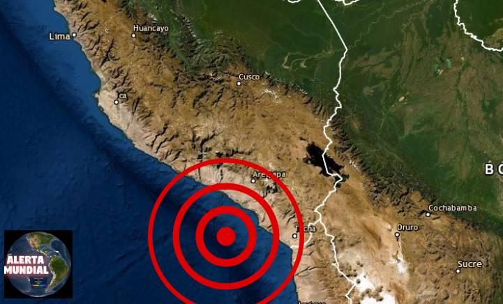 Sismo de magnitud 5.9 sacude Arequipa, Perú