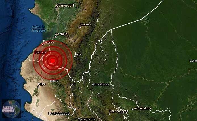 Sismo de magnitud preliminar 5.7 Perú y Ecuador
