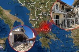 Derrumbes tras un Potente sismo en Grecia (VIDEOS Y FOTOS)