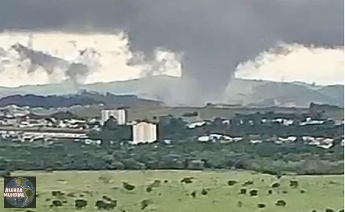Enorme Tornado y microexplosiones azota Brasil