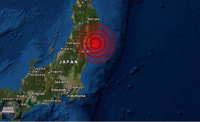 Fuerte terremoto sacude a Japón, desencadena un aviso de tsunami; No hay informes inmediatos de daños.