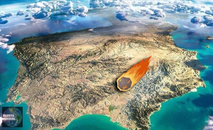 Increíbles imágenes de un trozo de asteroide que impacta contra España