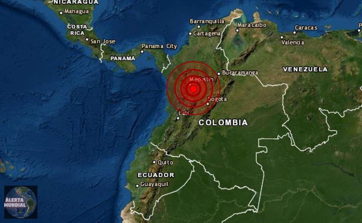 Sismo de magnitud 5.3 en Medellin, Colombia