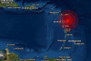 Sismo de magnitud 5.8 en Guadalupe y Antigua y Barbuda