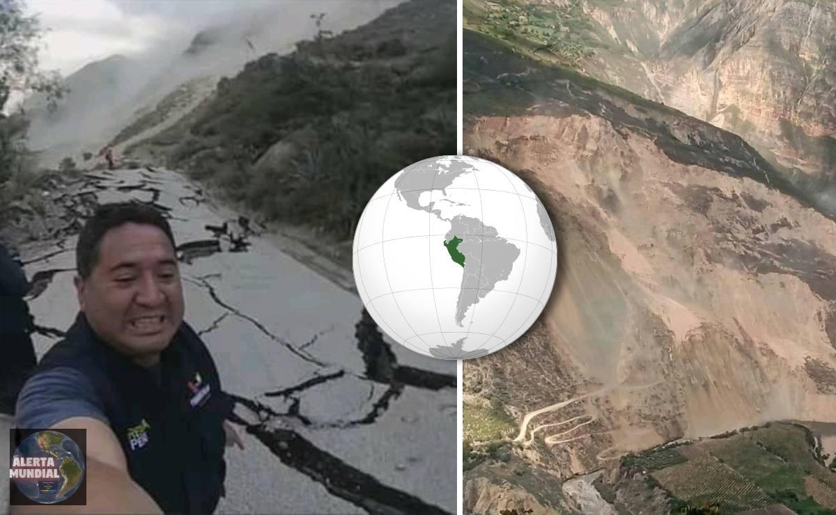 ¡Como un TERREMOTO! más de un kilómetro de vía se esta destruyendo debido a una Falla Geológica en Perú