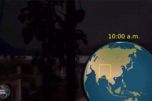 Bajo las tinieblas El día se oscurece repentinamente como la medianoche en Nepal