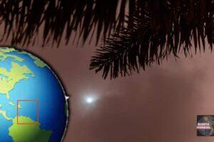 El día se convierte en noche ciudad de Barbados bajo las tinieblas en plena mañana