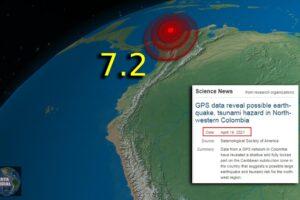 Encubrimiento del Terremoto en Colombia Los científicos advirtieron hace 2 días del alto riesgo de terremotos y tsunamis potentes en el mismo lugar exacto