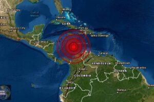 Fuerte Terremoto frente a Colombia pero misteriosamente desaparece de los mapas de Terremotos..