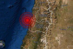 Fuerte sismo de magnitud 5.6 en la zona central de Chile