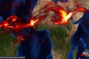 La nube tóxica del volcán caribeño envuelve la Tierra; llega a la India