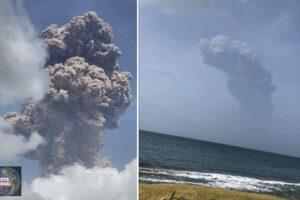 Potente erupción del volcán Soufrière en el Caribe tras 40 años inactivo