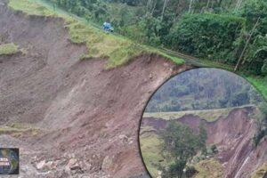 Se abre la tierra Una falla geológica esta destruyendo parte de una carretera en Costa Rica