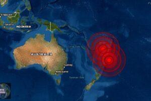 Se registra sismo de magnitud 6.5 y 6.0 en Kermadec y Fiji este jueves..