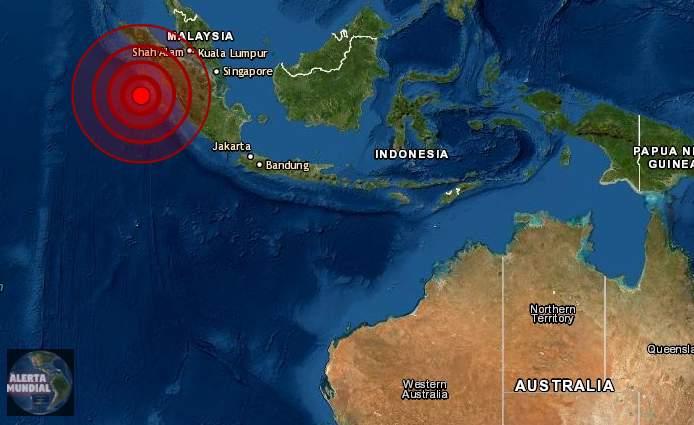 Sismo superficial de magnitud 6.4 golpea Indonesia