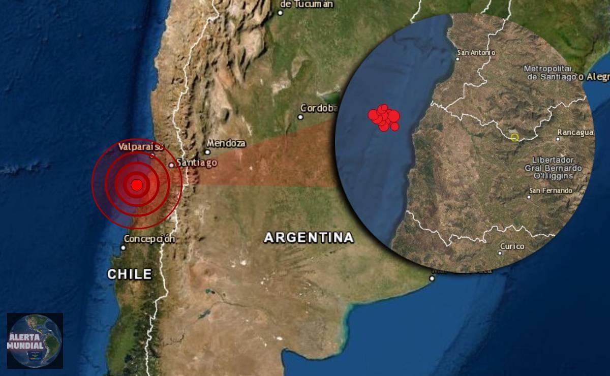 Un enjambre sísmico esta golpeando la zona central de Chile
