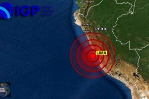 IGP alerta ante la OEA que la zona central del Perú debe prepararse para un Terremoto de magnitud 5.8.