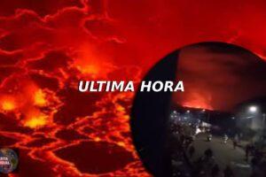 Pánico en Congo Volcán entre en erupción y se cree que la lava llegaría a la ciudad (VIDEOS)
