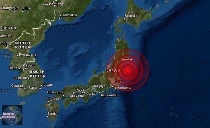 Sismo fuerte golpea Japón