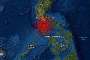 Sismo golpea Mindoro, Filipinas