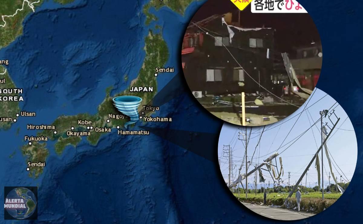 Un raro Tornado golpea Japón dejando heridos y daños en estructuras (VIDEOS)