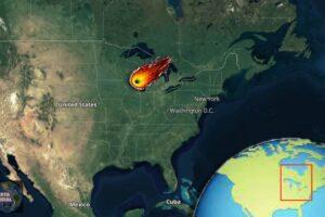 VIDEO Una enorme bola de fuego convierte la noche en día en varios estados de EE.UU