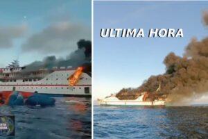 VIDEOS Barco con 181 pasajeros se incendia en el norte de Maluku, Indonesia